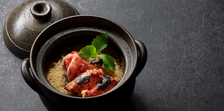 Hokkaido King Crab Donabe from Jinjo at Shaw Centre in Orchard, Singapore