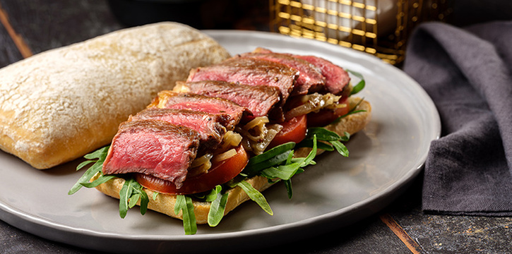 Steak Sandwich from Se7enth at OUE Downtown 1 in Tanjong Pagar, Singapore