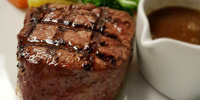 Great Steak from Leonardo Da Vinci Restaurant in Kata Noi, Phuket, Thailand.