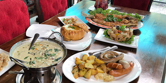 Signature Dishes from The Witch Antiques & Restaurant at Muban Seri Villa Alley, Lane 2 Nong Bon, Prawet Bangkok Thailand