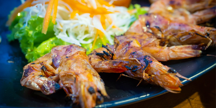BBQ-Prawns from Golden Fish Restaurant & Bar in Bangtao Beach, Phuket, Thailand