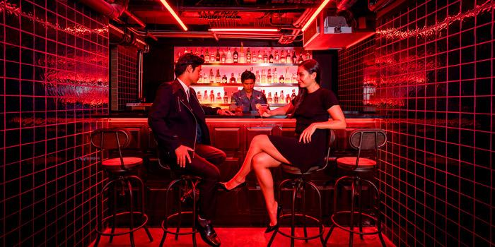 Bar Area of ROSS KITCHEN at Akara Hotel 372 Sri Ayutthaya Rd Phyathai, Rajthevi Bangkok