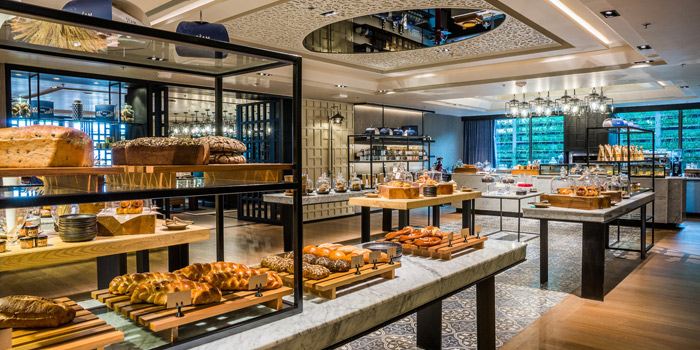 Bread Station of Siam Tea Room at G/F, Bangkok Marriott Marquis Queen