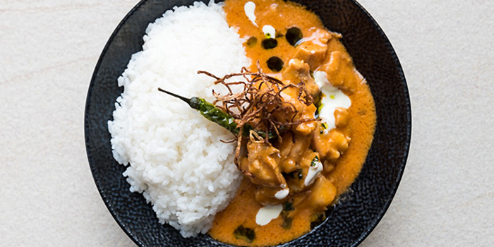 Ginger Butter Chicken with Steamed Rice from Coriander Leaf at CHIJMES in City Hall, Singapore