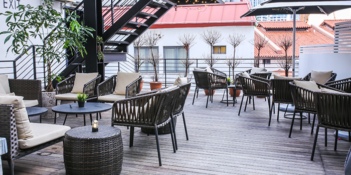 Alfresco Dining Area of Coriander Leaf Grill in Tanjong Pagar, Singapore