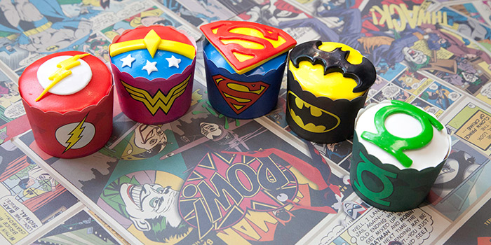 Cupcakes from DC Super Heroes Cafe (Marina Bay Sands) at The Shoppes at Marina Bay Sands in Marina Bay, Singapore