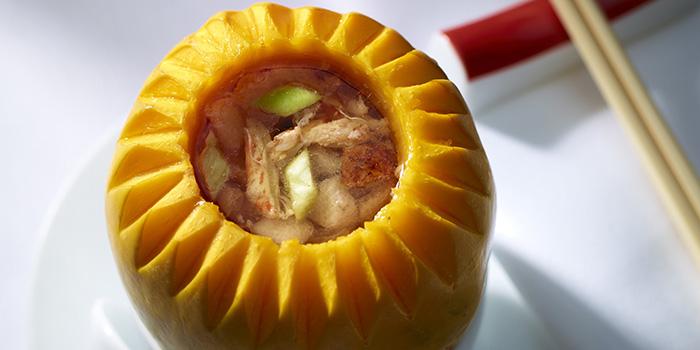 Double Boiled Crab Meat Soup in Young Papaya, The Chinese Restaurant, Tsim Sha Tsui, Hong Kong
