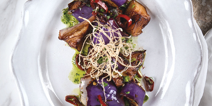 Eggplant from Coriander Leaf at CHIJMES in City Hall, Singapore