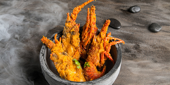 Fried Lobster in Salted Egg from COCA at Kallang Leisure Park in Kallang, Singapore