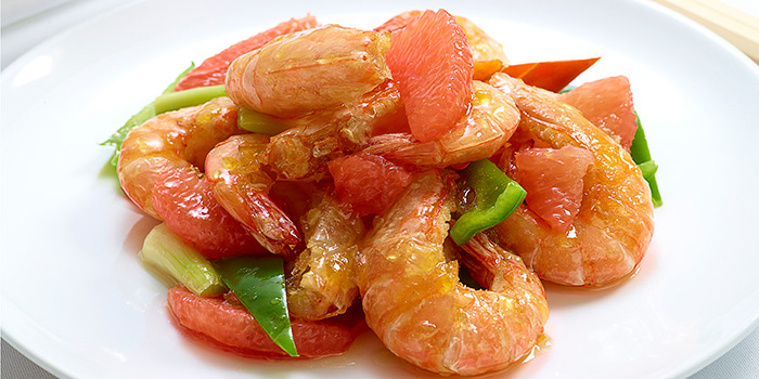 Fried Sea Shrimps with Chinese Mandarin Sauce, The Chinese Restaurant, Tsim Sha Tsui, Hong Kong