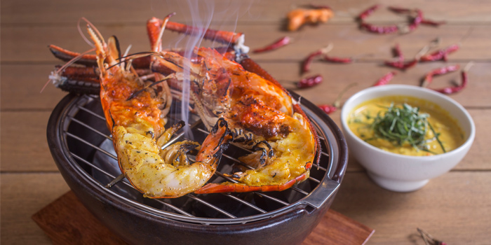 Grilled Giant River Prawn from Siam Tea Room at G/F, Bangkok Marriott Marquis Queen