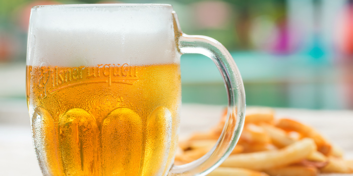 Beer from GRUB Burger + Noodle Bar at HomeTeamNS-JOM in Balestier, Singapore
