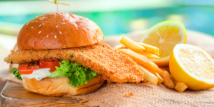 Fish Burger from GRUB Burger + Noodle Bar at HomeTeamNS-JOM in Balestier, Singapore