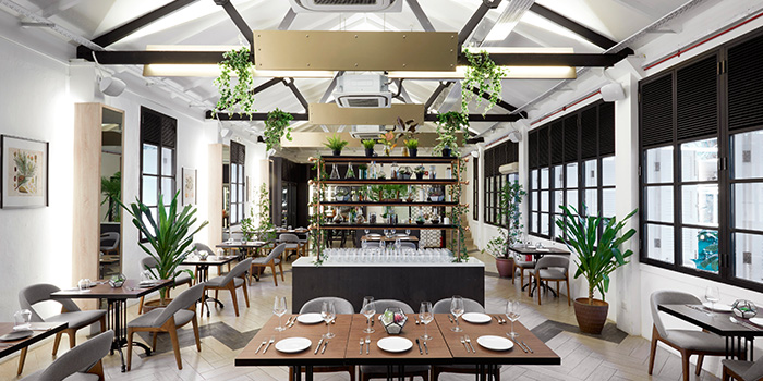 Interior of Botanico at The Garage in Singapore Botanic Gardens in Bukit Timah, Singapore
