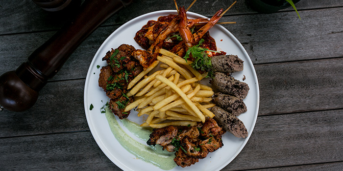 Kebab Platter from Catchfly in Chinatown, Singapore