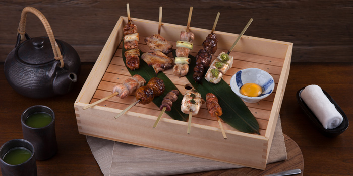 Mixed Skewers from Soba Factory at Bangkok Marriott Marquis Queen