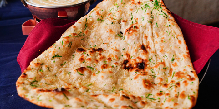 Naan Bread from Bawarchi Indian Restaurant at Intercontinental Hotel (President Tower Arcade) B-level 973 Ploenchit Road Bangkok