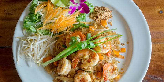 Phad Thai Prawn from Golden Fish Restaurant & Bar in Bangtao Beach, Phuket, Thailand