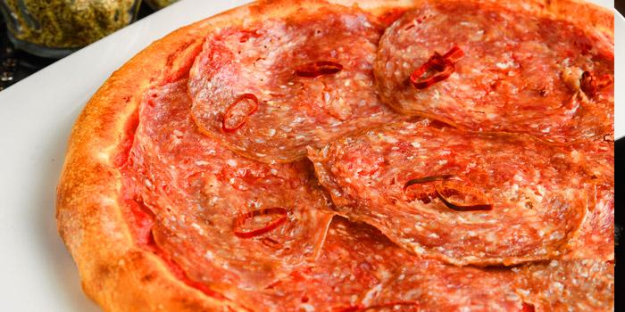 Pizza Diavola from Di Farina at 111 Soi Sathon12 Sathon Road, Silom, Bangrak Bangkok