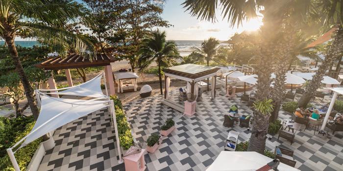 Restaurant-Ambiance of Coast Beach Club and Bistro in Patak Road Kata Muang Phuket, Thailand