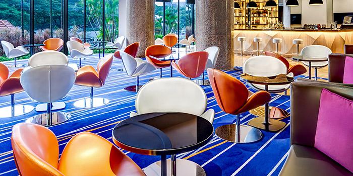 Interior of Atrium Bar 317 at Holiday Inn Atrium in Outram, Singapore