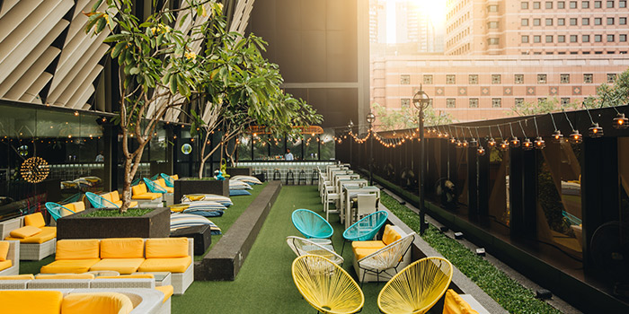 Al Fresco Dining Area of Bar Canary in Grand Park Hotel in Orchard, Singapore