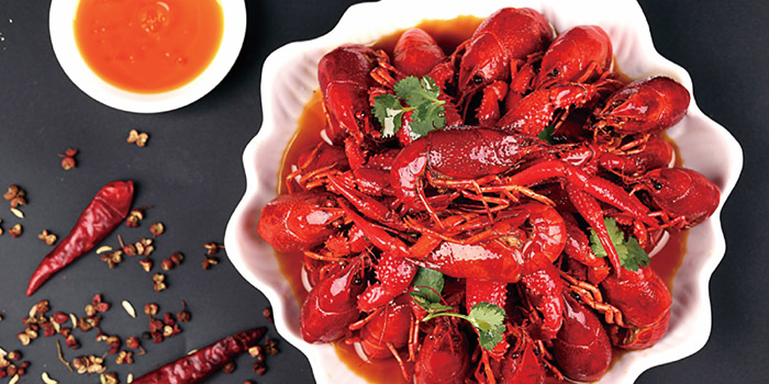Mala Small Lobster from Blue Pier at East Coast Seafood Centre in East Coast, Singapore