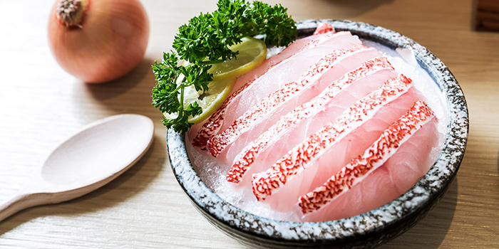 Fish Slices from City Hot Pot Shabu Shabu at One Raffles Place in Raffles Place, Singapore