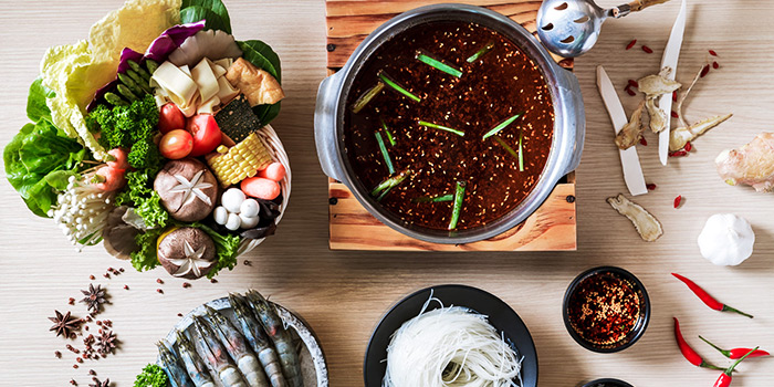 Mala Soup from City Hot Pot Shabu Shabu (Guoco Tower) in Tanjong Pagar, Singapore