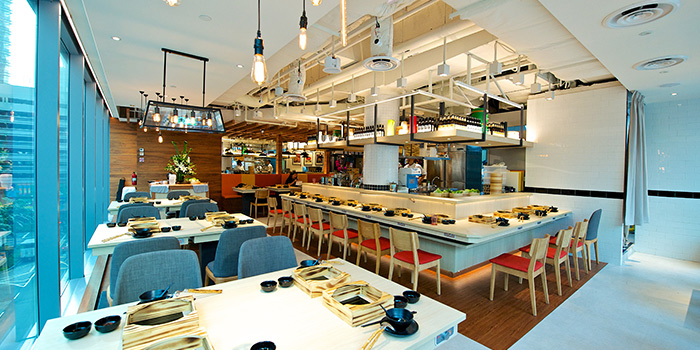 Interior of City Hot Pot Shabu Shabu at One Raffles Place in Raffles Place, Singapore
