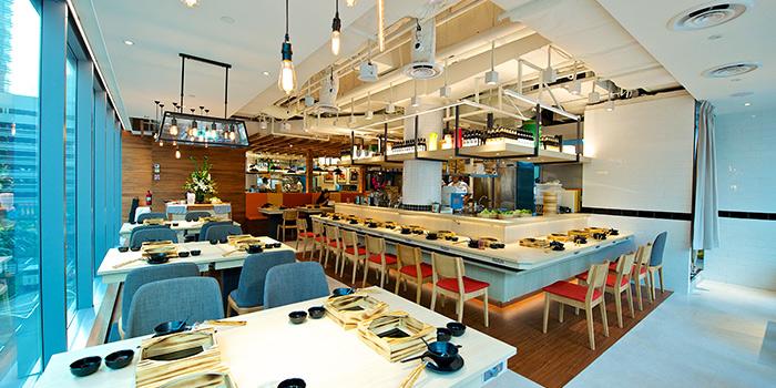 Interior of City Hot Pot Shabu Shabu (Raffles Place) at One Raffles Place in Raffles Place, Singapore