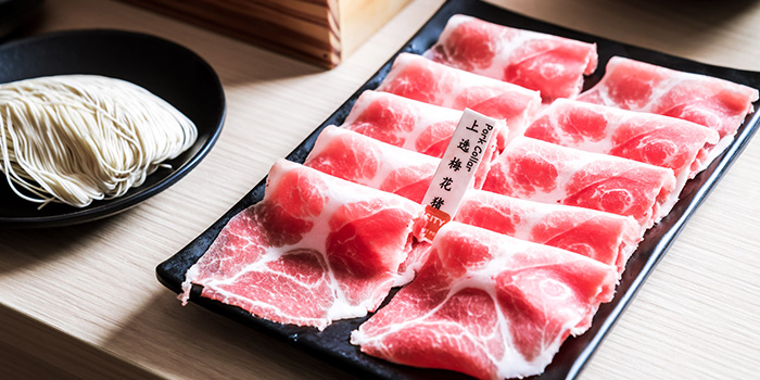 Pork Collar from City Hot Pot Shabu Shabu at One Raffles Place in Raffles Place, Singapore