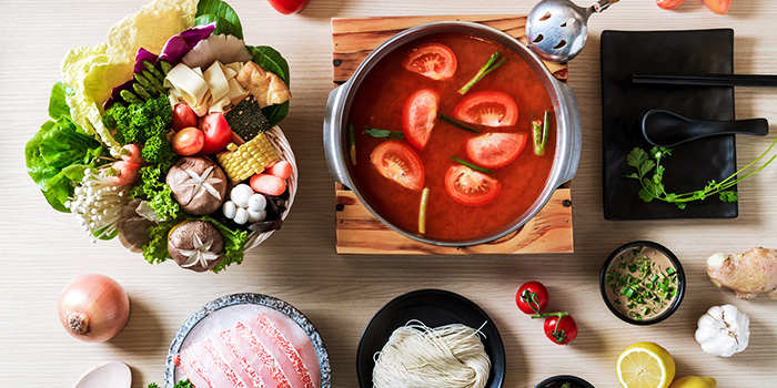 Tomato Soup from City Hot Pot Shabu Shabu at One Raffles Place in Raffles Place, Singapore