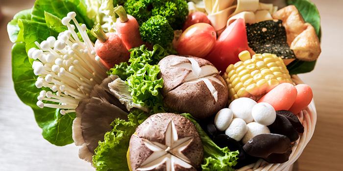 Vegetables from City Hot Pot Shabu Shabu at One Raffles Place in Raffles Place, Singapore