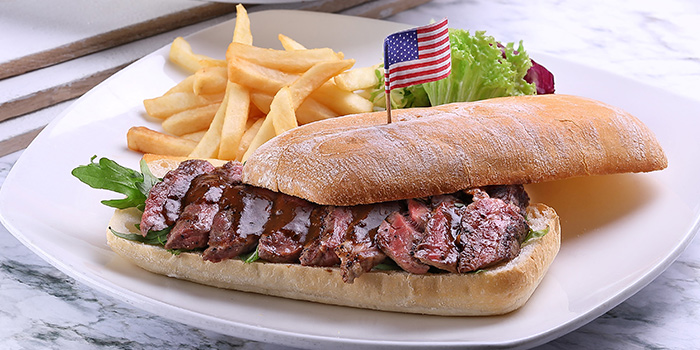 Boston Lobster Roll & Ribeye Steak Sandwich from Earle Swensen