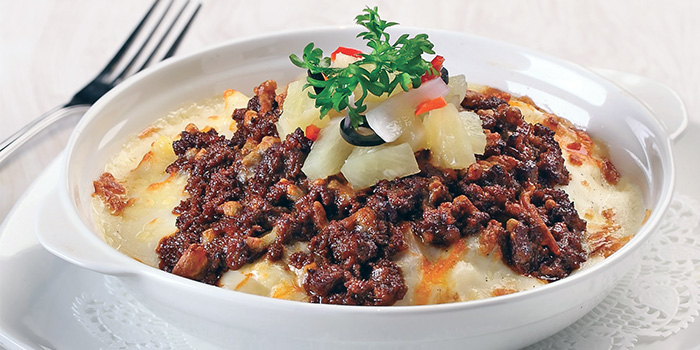 Pineapple Rendang Baked Rice with Pickles from Earle Swensen