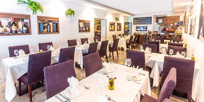 Interior of  Etna Italian Restaurant (Duxton) in Duxton, Singapore