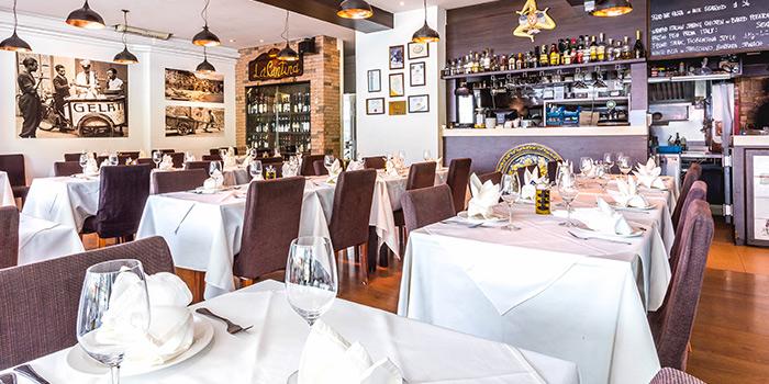 Interior of Etna Italian Restaurant (Upp East Coast) in East Coast, Singapore