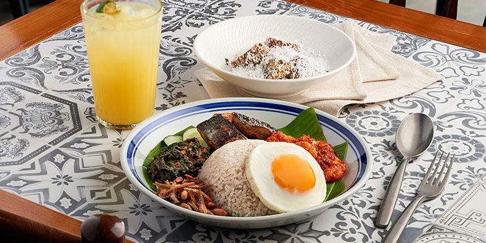 Nasi Lemak (Set Lunch) from Folklore in Destination Singapore Beach Road in Lavender, Singapore