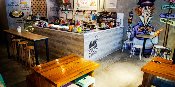 Interior of Cranky Cats x Hatter Street Crawford in Lavender, Singapore