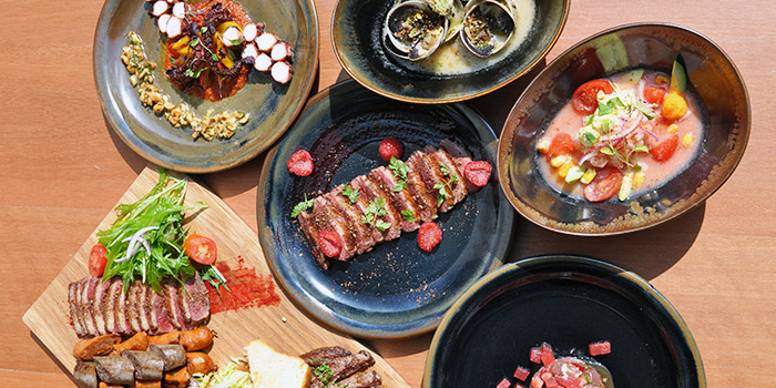 Food Spread from Kinou in Tanjong Pagar, Singapore