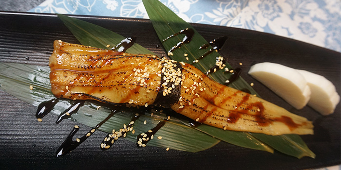 Ippon Anago Sushi from Maru Japanese Restaurant at ICON Village in Tanjong Pagar, Singapore