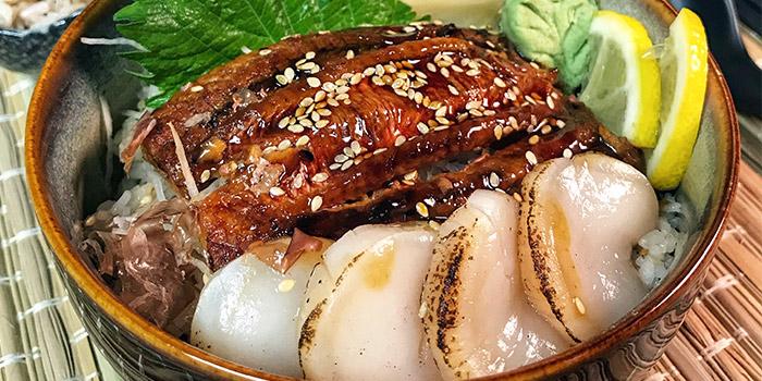 Bonito Unagi & Scallop from Maru Japanese Restaurant at ICON Village in Tanjong Pagar, Singapore