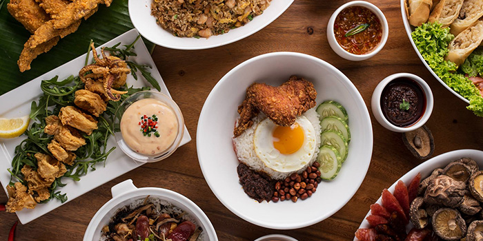 Food Spread from One Bowl Restaurant & Bar at The Sultan Hotel in Bugis, Singapore