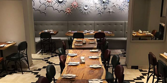 Interior of One Bowl Restaurant & Bar at The Sultan Hotel in Bugis, Singapore