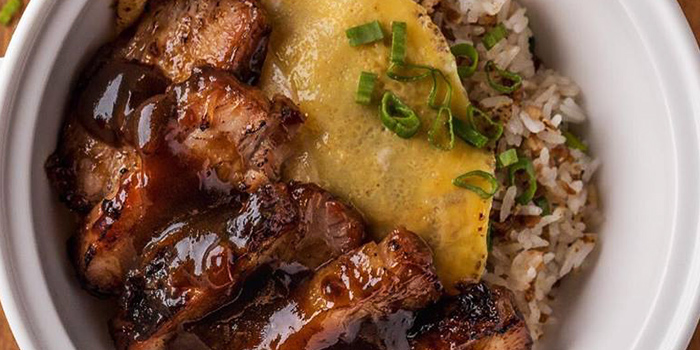 Premium Char Siew Rice from One Bowl Restaurant & Bar at The Sultan Hotel in Bugis, Singapore