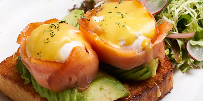 Smoked Trout Benedict from Slappy Cakes (Plaza Singapura) in Dhoby Ghaut, Singapore