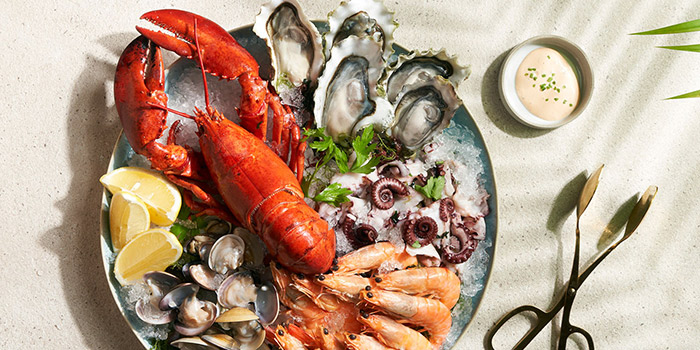 Tanjong Seafood Platter from Tanjong Beach Club - The Dining Room on Tanjong Beach Walk on Sentosa Island, Singapore