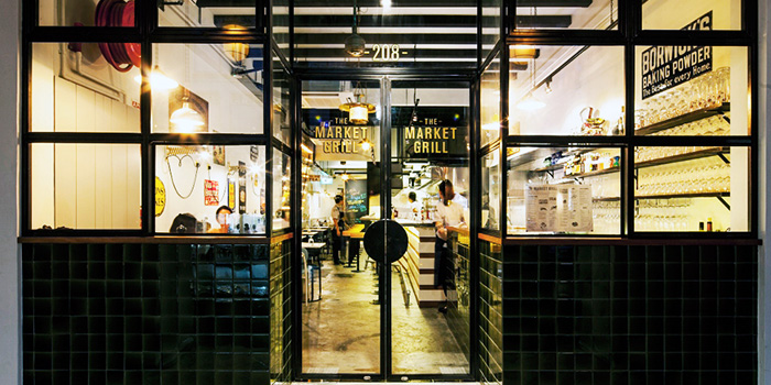 Exterior of The Market Grill at Telok Ayer in Raffles Place, Singapore