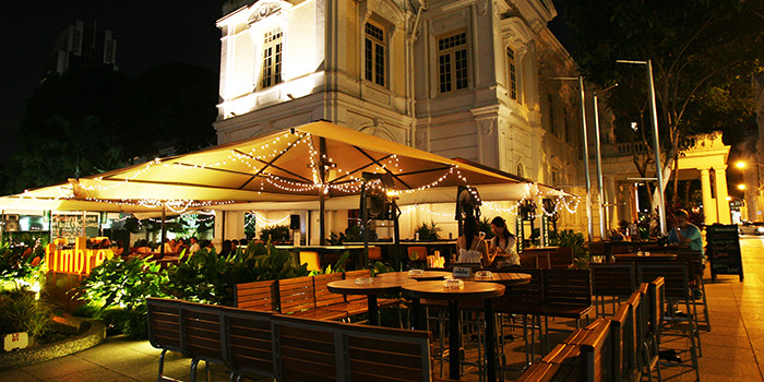 Exterior of Timbre @ The Arts House in Raffles Place, Singapore